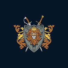 game of thrones lion shield true king parody tshirt tee fanboy30