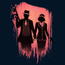 outlaw lovers moutchy paintbrush painted vector tshirt tee