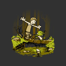 star wars yoda cartoon funny pop culture mashup djkopet tshirt tee