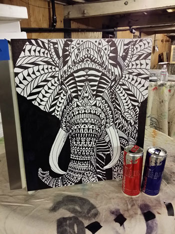 elephant final finished canvas art cooler redbull elephant bioworkz la