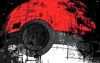 bestseller star wars death star pokeball pokemon poked to death tshirt tee zerobriant