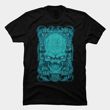 skull sinner hydro74 blue gradient skull tshirt tee type typography ornaments elements