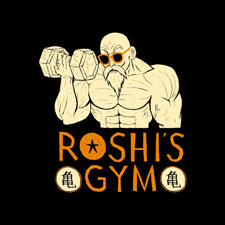 louisroskosch roshi gym cultural asian cartoon character pop culture
