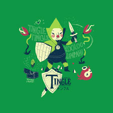 the legend of the tingle green legend of zelda parody pop culture gaming gamer video games tshirt tee  louisroskosch