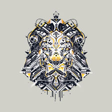 lion yoaz detail illustration tshirt tee