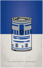 star wars parody pop culture r2d2 soup can tshirt tee