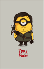 the walking dead daryl dixon pop culture parody despicable me minion tshirt tee