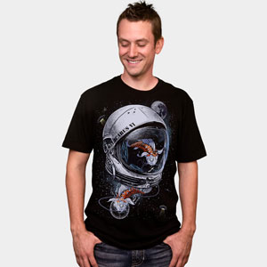 space koi drspazmo space stars astronaut illustration drawing cool tshirt tee