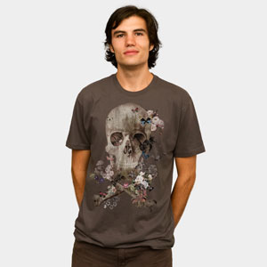 life care surgistinha design by humans tshirt tee skull grunge texture flowers