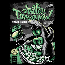 tentacle cereals tshirt tee pop culture parody alice in wonderland monster