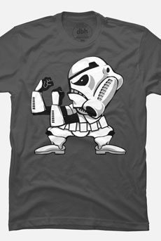 fighting trooper stormtrooper star wars pop culture parody tshirt tee funny cartoon jimiyo