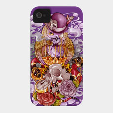 owl phone case surreal steampunk ilustration skull still life iphone 4 iphone 4s iphone 5