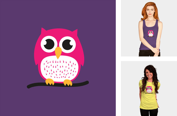 sweet and cute owl badbugs cartoon vector owl cute adorable minimal womens tshirt tee