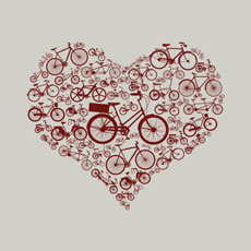 bike love azrhon patten bicycle heart love transportation vector tshirt tee