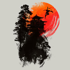the escape ingkong tshirt tee painted brush stroke black ninja