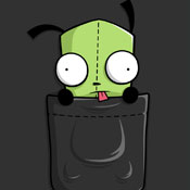 invader zim cartoon pop culture tshirt tee pocket