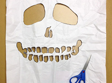 Step 5 Cut Up Skull Tees