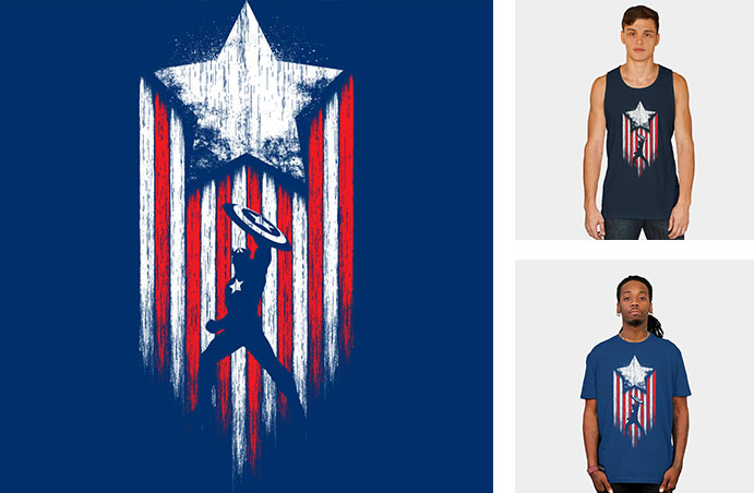 patriot america USA captain america marvel superhero star shield tshirt tee crew crewneck sweatshirt tank top