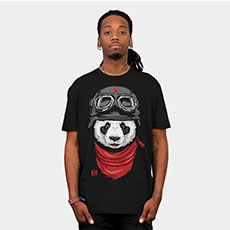panda happy adventurer tshirt tee cute