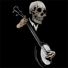 banjo blues skeleton skull music artist grunge teeth dark art tshirt tee tank tanktop crew crewneck sweatshirt phone case