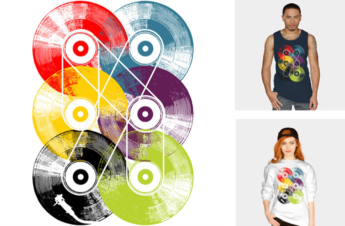 vinyl disk keep the record alive vintage retro texture pattern rainbow neon turntable phonograph photo realistic music song tshirt tee tank top crew crewneck sweatshirt phone case iphone