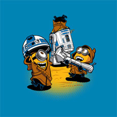 despicable jawas djkopet despicable me cartoon halftone star wars r2d2 robot droid classic tshirt tee tank top crewneck sweatshirt