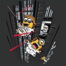 despicable escape despicable pop culture parody mashup funny cartoon character star wars princess leia luke skywalker stormtrooper death star laser lightsaber force tshirt tee tank top crewneck sweatshirt