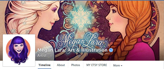 Megan Lara artist DBH illustrator Facebook Fan Page