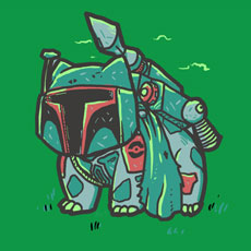 bulba fett biotwist pokemon star wars character pop culture mashup cartoon character tshirt tee gaming gamer movie sweatshirt phone case