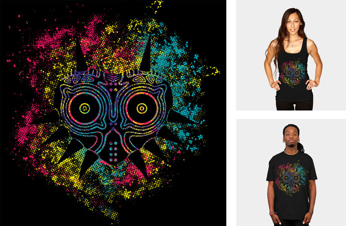 majoras mask churrosky legend of zelda link evil relic mask video game nintendo gaming tshirt tee tank top sweatshirt phone case