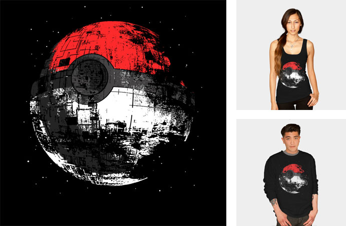 poked to death zerobriant star wars pop culture movie film classic death star pokemon pokeball space stars funny tshirt tee tank top sweatshirt phone case