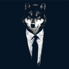 mr wolf animal business man suit work grunge texture photo real tshirt tee tank top sweatshirt phone case