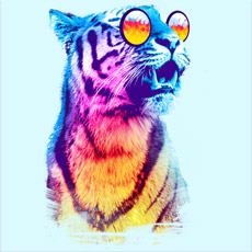 tiger breeze rainbow stripes neon rainbow summer sunglasses mashup funny tshirt tee tank top sweatshirt phone case