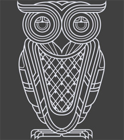 Art Deco Owl (Nocturnal)