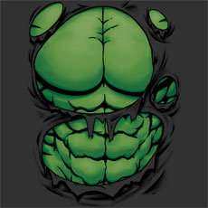 green giant hulk costume tshirt tee