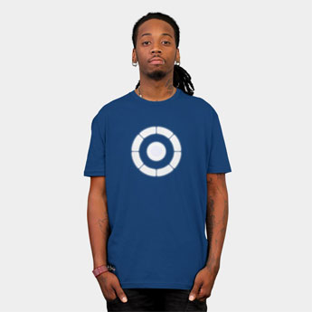 arc reactor masochism tony stark iron man 2 pop culture parody tshirt t shirt tee designbyhumans