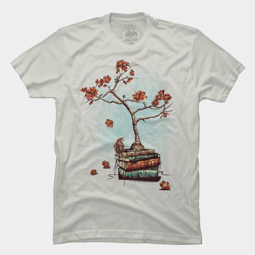reborn plant tree japan books knowledge bird fall best of 2013 tee tshirt