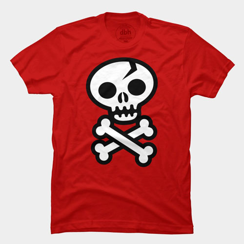 skull and crossbones skeleton vector art red white black tshirt best of 2013
