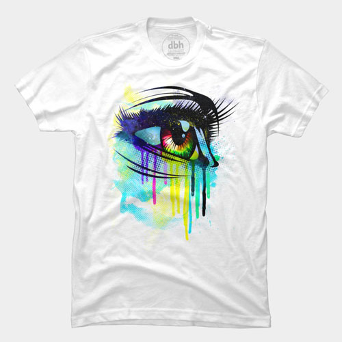 tee makeup cry color pretty beautiful woman girl colorful bright tears of colors best of 2013 tshirt