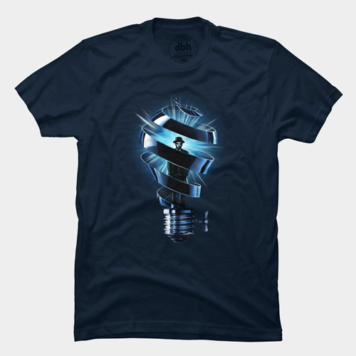 best of 2013 tee tshirt man magritte lightbulb idea