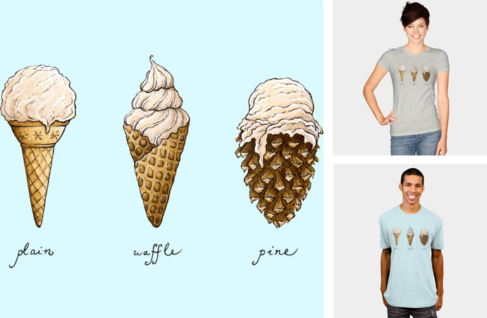 ice cream cone pine cone sweater tshirt sweatshirt