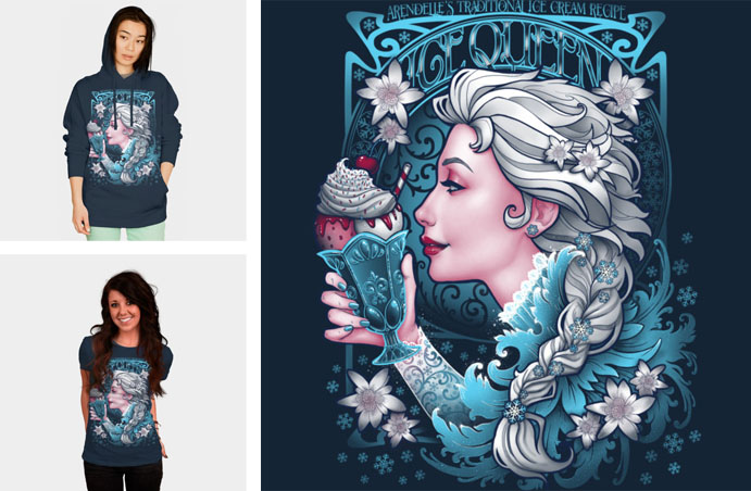 frozen let it go ice cream tshirt sweatshirt