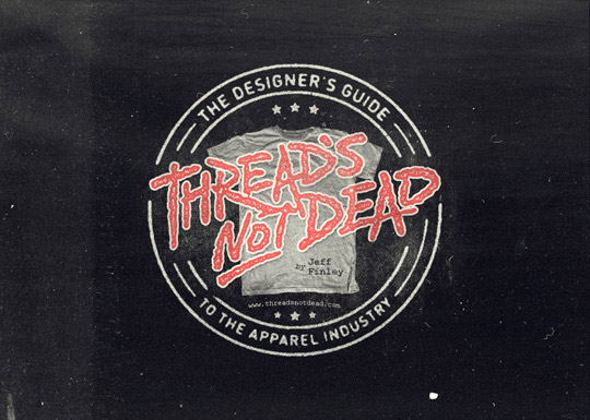 Threads not dead t shirt design book