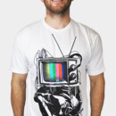 BlindPixel wearing Retro TV Colour Test Man by LukeBatten