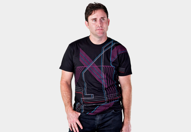 Lines of Tron T-Shirt - Design By Humans