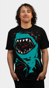 Shark with pixelated teeth! T-Shirt
