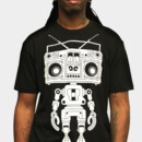 uglymetalmouth wearing Limited Edition - Boombox Boy Bot by marcogervasio