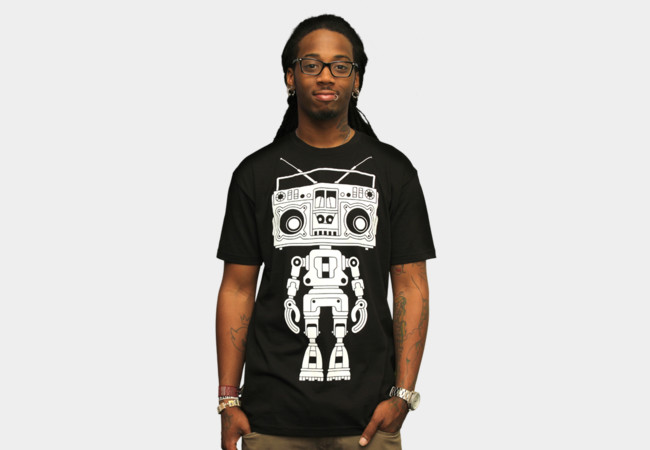 Limited Edition - Boombox Boy Bot T-Shirt - Design By Humans