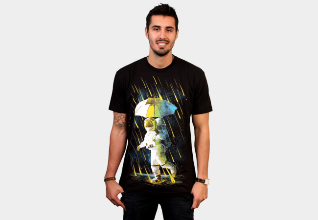 Meteor Shower In Space T-Shirt - Design By Humans