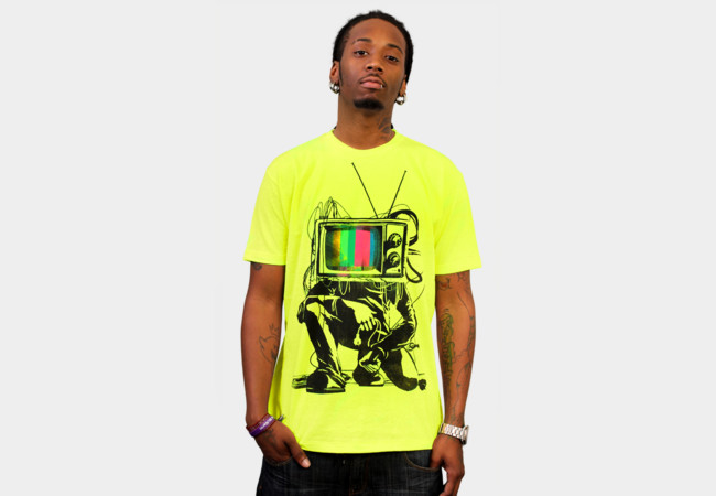 Limited Edition - Retro TV Colour Test Man T-Shirt - Design By Humans